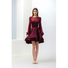Bronx And Banco Queen Dress Burgundy Red