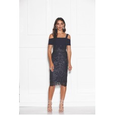 Grace & Hart Breathless Love Midi Dress Navy