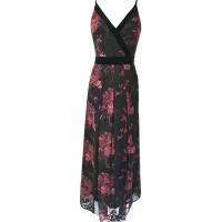 Karen Millen Devore Floral Maxi Dress Black Multi