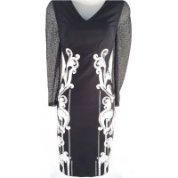 Karen Millen Signature Art Work Dress Black White