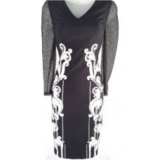 Karen Millen Signature Art Work Dress Black White