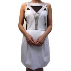 Karen Millen Sporty Colourblock Dress White