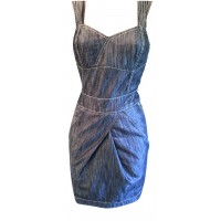 Karen Millen Denim Dress Dark Blue