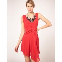 Karen Millen Beaded Necklace Dress Pink