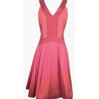 Karen Millen Colour Contrast Dress in Red Multi