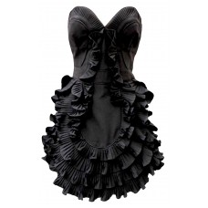 Karen Millen Corset Frill Prom Dress Black