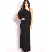 Karen Millen Eyelet Jersey Maxi Dress Black