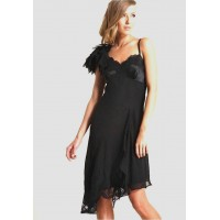 Karen Millen Lace Applique Dress Black