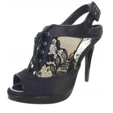 Karen Millen Lace Shoe Boots Black