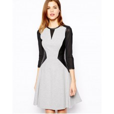 Karen Millen Skater Dress Grey / Black