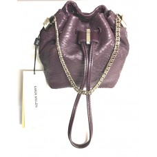 Karen Millen Snake Mini Bag Purple Leather