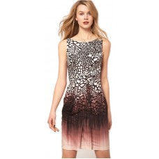 Karen Millen Animal Print Pencil Dress Pink Multi
