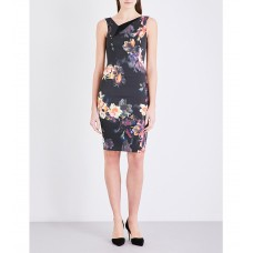 Karen Millen Orchid Floral Print Dress Multi
