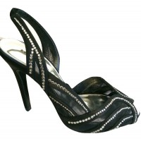 Karen Millen Diamante Shoes Black