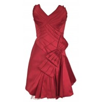 Karen Millen Strapless Prom Bow Dress Red