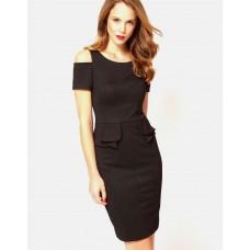 Karen Millen Ponte Roma Snake Print Dress Brown / Black
