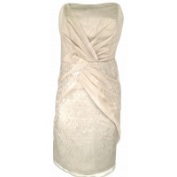 Karen Millen Strapless Sequin Dress Champagne