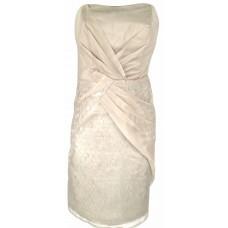 Karen Millen Strapless Sequin Dress Champagne