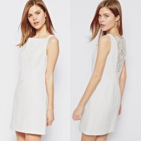 Karen Millen Lace Shift Dress Ivory
