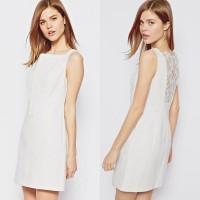 Karen Millen Lace Shift Dress Ivory