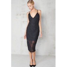 Lavish Alice Premium Black Cornelli Cami Dress