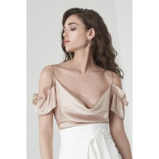 Lavish Alice Bodysuit Ruffle Top Mink
