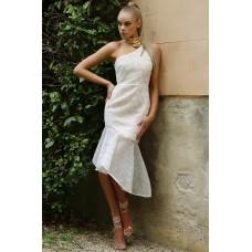 Runaway Halcyon Midi Dress White Gold