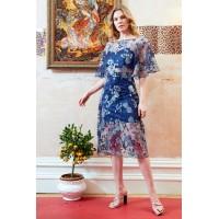 Sarvin Doutzen Lace co-ord Midi Dress Blue