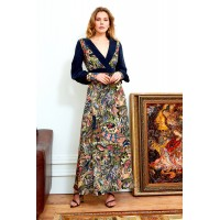 Sarvin Larica Floral Hand Printed Maxi Dress
