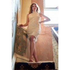 Sarvin lucille Stone Backless Sequin Dress