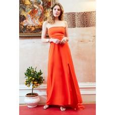 Sarvin Margot Bandeau cut out Maxi Dress Orange