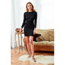 Sarvin Morena Lace Backless Dress Black