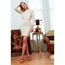 Sarvin Morena Lace Backless Dress Stone