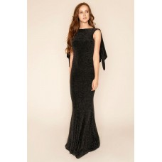 Sarvin Marylin Shimmer Black Evening Gown