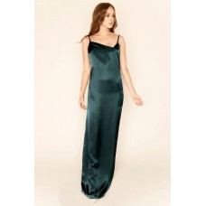 Sarvin Rosie Backless Maxi Gown Emerald
