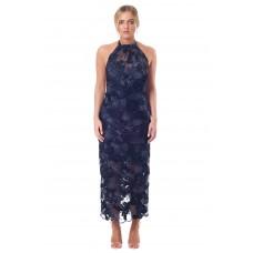 Sarvin Celine Sequin Embellishedlace Dress Blue