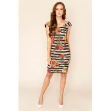 Sarvin Linda Cherry Print Off The Shoulder Dress