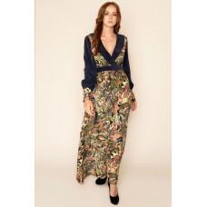 Sarvin Larica Floral Hand Printed Maxi Dress