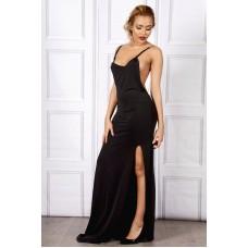 Sarvin Emrata Black Backless Gown