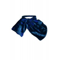 Sarvin Silk Neck Scarf Blue Devore