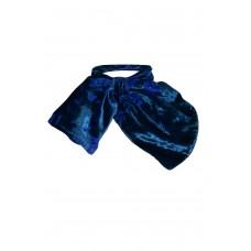 Sarvin Silk Neck Scarf Blue Devore