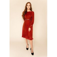 Sarvin Shay Dress Red Long Sleeved