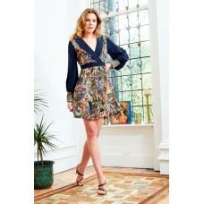 Sarvin Aria Floral Hand Printed Dress