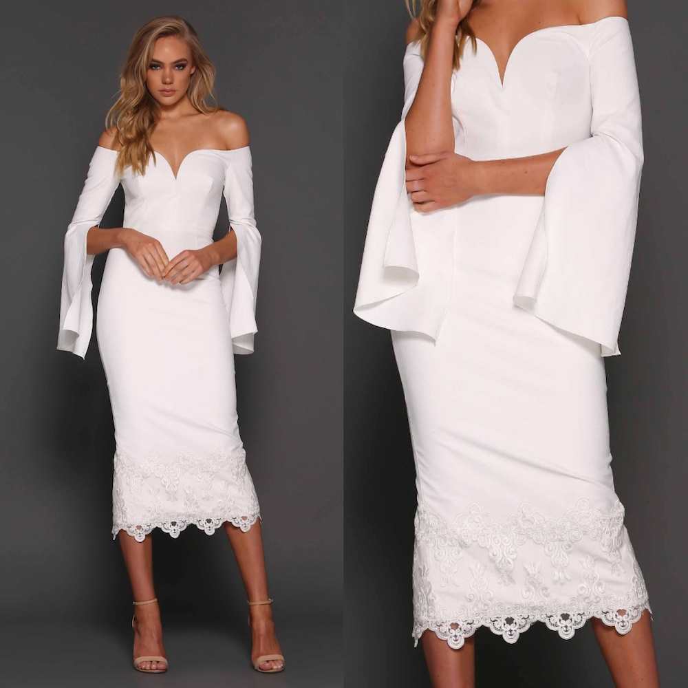 Dressing Gowns Uk: Elle-Zeitoune-bella-dress-white