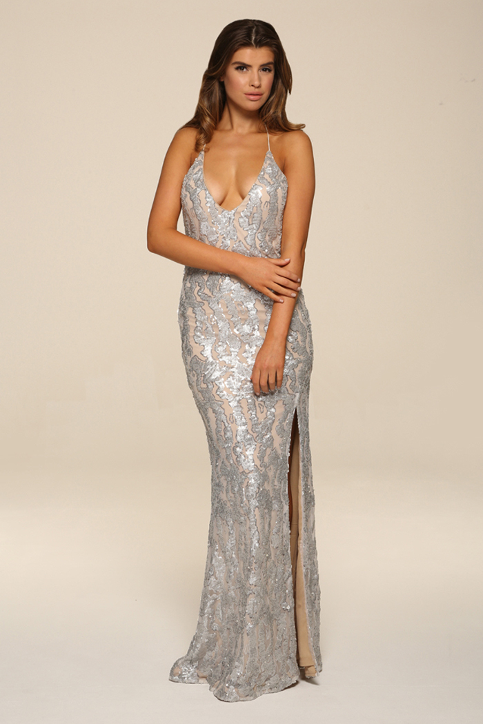 Honor Gold Gia Sequin Long Maxi Gown Uk Stockist Fab Designer Boutique