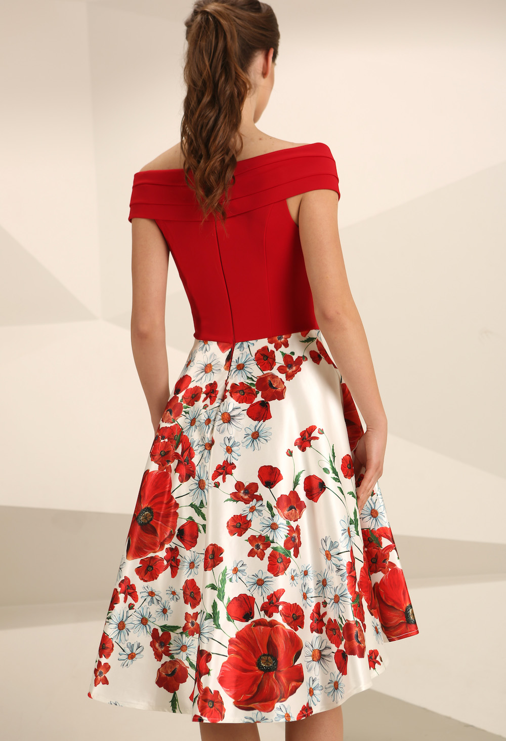 Nataliya Couture Poppy Full Skirted Red Dress
