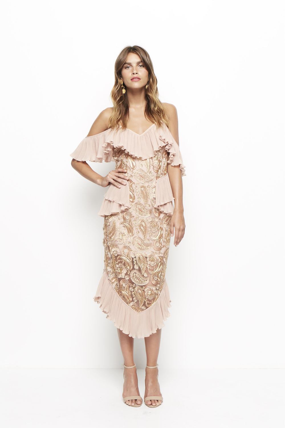 Alice Mccall We Could Be Friends Dress Rose Gold Uk