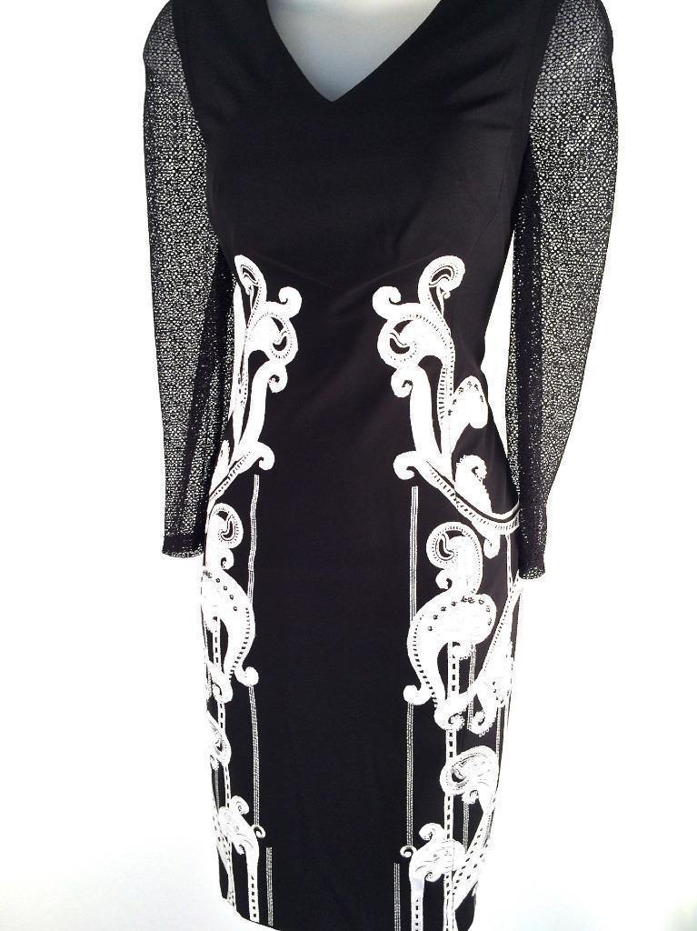 Karen millen signature fitted dress black