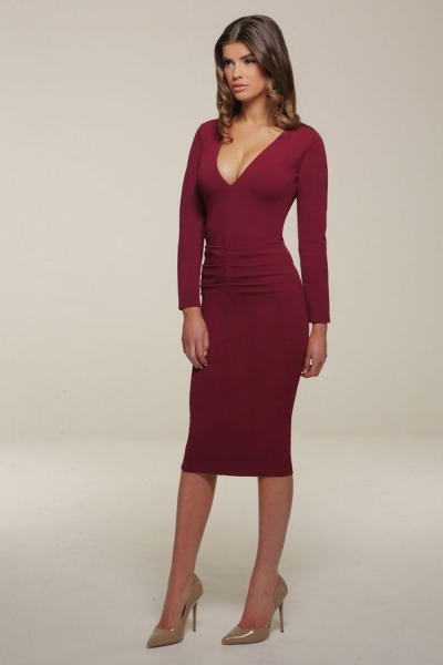 Honor Gold Berry Kelsey Midi Dress