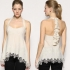 Karen Millen Stone Lace Embroidered Frill Top